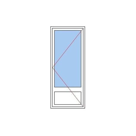 Porte-fenêtre 1 vantail avec soubassement