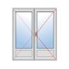 Porte-fenêtre 2 vantaux avec soubassement